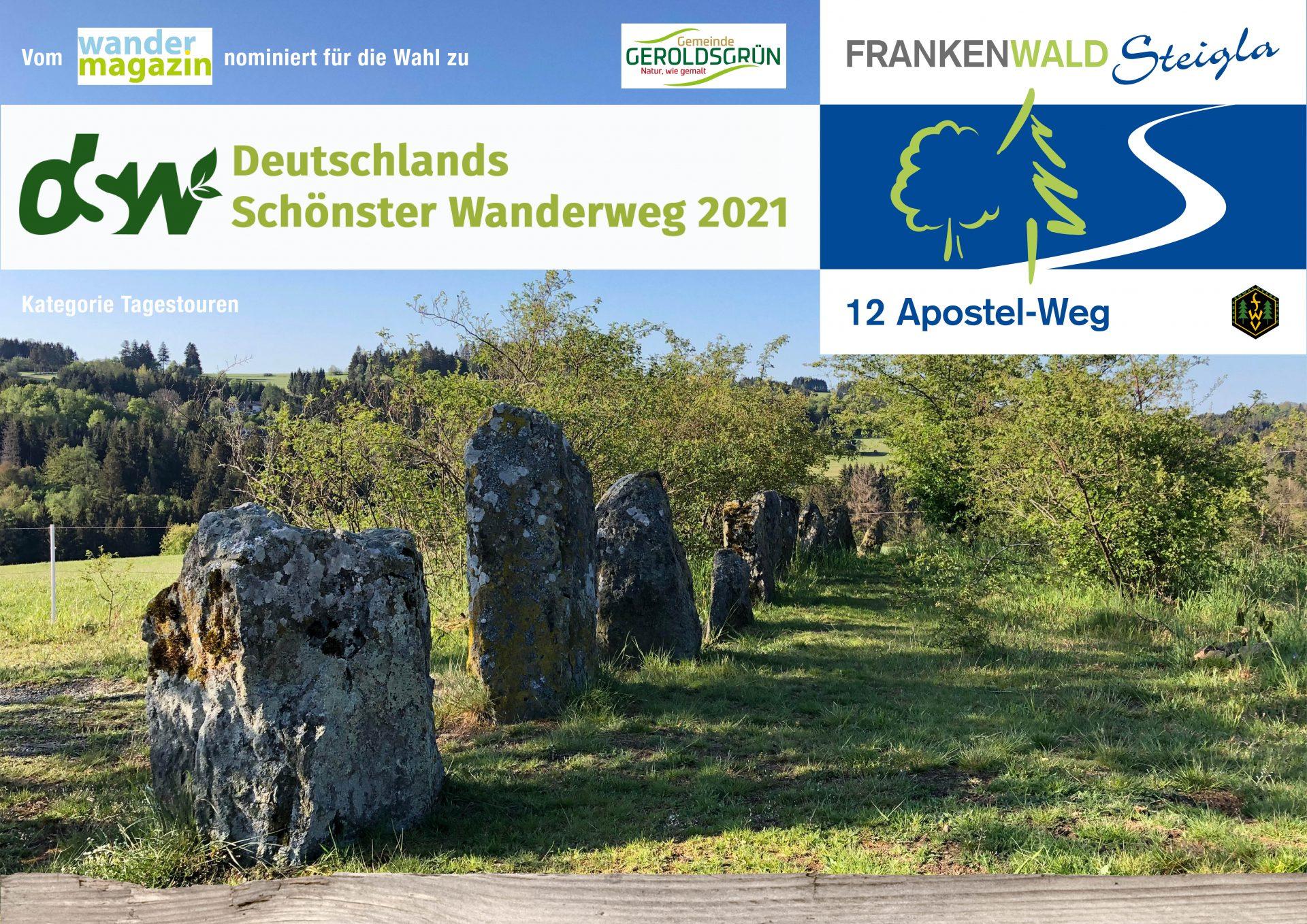 """FrankenwaldSteigla 12-Apostel-Weg für Wahl """"Duteschlands Schönster Wanderweg"""" nominiert"""